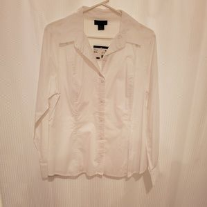 Apostrophe white long sleeved dress shirt